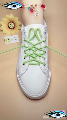 Amp up your sneaker style with these neat ideas is part of Shoe lace tying techniques - Ways To Lace Shoes, How To Tie Shoes, Your Shoes, Lace Up Shoes, Ways To Tie Shoelaces, Diy Fashion, Fashion Shoes, Creative Shoes, Creative Ideas
