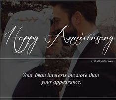 Islamic Wedding Anniversary Wishes For Husband & Wife Anniversary Wishes For Him, Happy Anniversary To My Husband, Happy Marriage Anniversary, Wedding Anniversary Quotes, Cute Muslim Couples, Happy Wedding Day, Husband Quotes, Husband Wife, Eid