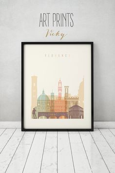 Florence print, Poster, Wall art, Italy cityscape, Firenze skyline, City poster, Typography art, Gift, Home Decor Print, ART PRINTS VICKY.   QUALITY AND DETAILS ►Paper: EPSON Premium Glossy or Semigloss Photo Paper Best 5 stars in 251 or 255gr. ►Ink: Epson archival professional ink for colorful, vibrant prints that are water & fade-resistant ►Posters last up to 98 years in a frame, or over 200 years in a photo album ►Dimensions: please select your prefer dimensions  SHIPPING ►Delivered in a…