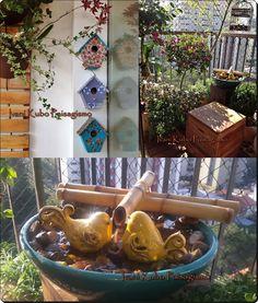 Ivani Kubo Paisagismo: Jardim na Varanda:Detalhes que fazem a diferença Feng Shui, Bird Feeders, Terracotta, Pond, Diy And Crafts, Balcony Ideas, Outdoor Decor, 30, Chloe