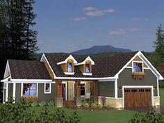 Craftsman   House Plan 42624 bump out master 1ft, dining 1ft, bedrooms 1-2ft.  Add downstairs next upstairs.  laundry room bumped into garage (add four feet), pocket door between new laundry room and stairway area.  pocket door in master bath