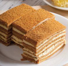 Russian Chocolate, Russian Honey Cake, Russian Cakes, Russian Desserts, Chocolate Slice, Chocolate Ganache, Chocolate Recipes, Sour Cream Frosting, Sour Cream Cake