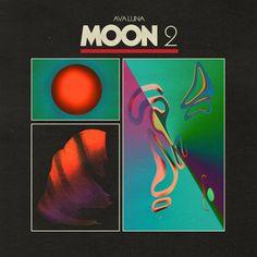 Album artwork for Ava Luna, Moon 2 for Western Vinyl. Graphic Design Posters, Graphic Design Typography, Graphic Design Inspiration, Poster Designs, Album Design, Design Layouts, Brochure Design, Design Design, Poster S
