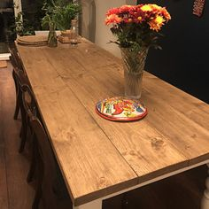 The Farmhouse Dining Table Set with Benches - Rustic Table & Benches - Reclaimed Dining Set - Handmade Dining Set Farmhouse Dining Table Set, Rustic Kitchen Tables, Dining Table With Bench, Rustic Table, A Table, Rustic Farmhouse, Dining Set, Farm Tables, Dining Room