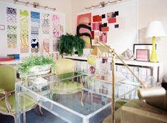 amanda nisbet interior design/images | The Aestate: lucite desks