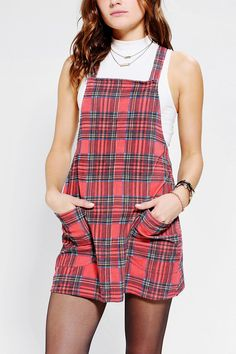 87624aafc56 MINKPINK Education Plaid Corduroy Dress