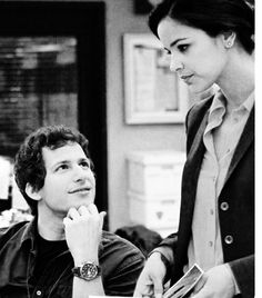 Brooklyn Get you a guy who looks at you like Jake looks at Amy Brooklyn Nine Nine, Brooklyn 9 9, Series Movies, Tv Series, Charles Boyle, Jake And Amy, Jake Peralta, Andy Samberg, A Guy Who