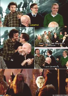 Gandalf's sword, Galadriel, according to Adam Brown // HAHAHA! Also, Aidan, what even is your face in that first picture? @_@