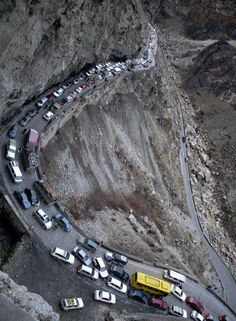 This is one of the most deadliest road in India, situated near Chamoli district in uttarakhand. Contact for a trip to this place. http://www.theotherhome.com