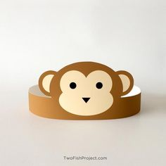 Monkey Mask Party Favor Safari Mask Jungle Party Hat Birthday Party Supplies/Hat/Favor Monkey Co Monkey Party Decorations, Gender Reveal Party Decorations, Monkey Party Favors, Monkey Crafts, Hat Crafts, Jungle Theme Birthday, Jungle Party, 5th Birthday, Safari