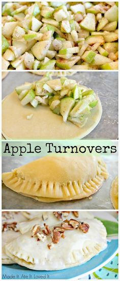 Apple Turnovers - my favorite apple recipe! Using apples! Fall Recipes, Sweet Recipes, Apple Recipes Easy, Baking Recipes, Dessert Recipes, Delicious Desserts, Yummy Food, Le Diner, Cookies Et Biscuits