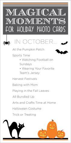 Tips for fun photos in October