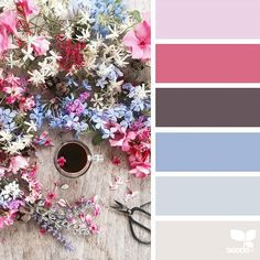 Absolutely beautiful feminine mood board with a more dramatic feel to it. The flowers are such a lovely compliment to the color palette.