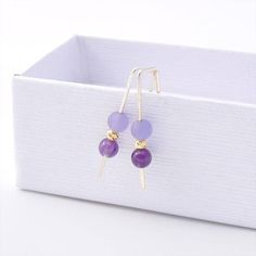 Beautiful Amethyst earrings made of 925 sterling silver and natural gemstone ONE OF THE MOST POPULAR ITMES! *100% sterling silver 925 * Amethyst Gemstone* Comes in designed gift box and ready for gifting! Add a new dimension to your look with this handmade piece of jewelry. This unique earring design can be worn on its own or with other jewelry. Add a special something to your little black dress or dress up your everyday jeans with this custom earring. Perfect as a gift for anyone in your…