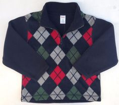 Gymboree Snow Chillin Boys Argyle Fleece Sweater Sz 3T-4T NWT #Gymboree #Pullover #DressyEverydayHoliday