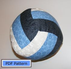 Cute Christmas gift, sew one this Weekend!  Volleyball or Water Polo Pillow PDF Pattern DIY home decor. $6.00, via Etsy.