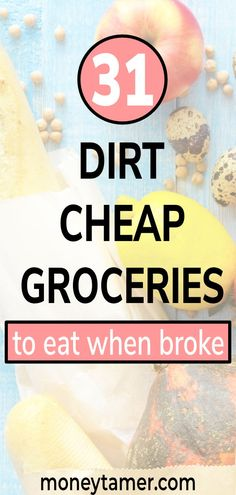 Cheapest Groceries List: 31 Cheap Foods To Buy When Broke Cheap Grocery List, Discount Grocery, Grocery Savings Tips, Shopping List Grocery, Best Money Saving Tips, Money Saving Meals, Save Money On Groceries, Cheap Meals, Cheap Food