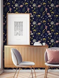 Wallpaper Herbier from the Parisian Papermint mural decoration brand. Source by les_crocos Said Wallpaper, Cool Wallpaper, Washable Wallpaper, How To Install Wallpaper, Style Deco, Rubber Flooring, Traditional Wallpaper, Cool Walls, Home Accents