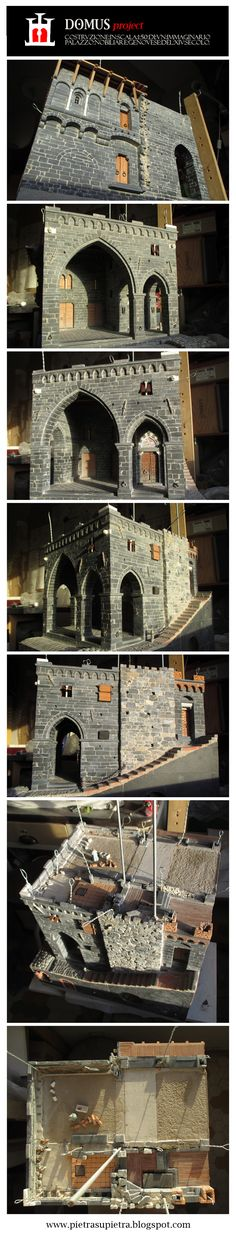 The Domus project 2015   -  The Domus project is the construction in scale 1:50 of an imaginary medieval palace. It's made of clay, stones, slate, wood and other construction materials in the style of rich genoese buildings from the middle of XIV century.