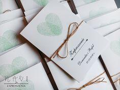 Zaproszenie ślubne z odciskami palców 🍀#zaproszenie#zaproszenia#oryginalne#delikatny#serce#zaproszeniaslubne#slub#wesele#sznurek