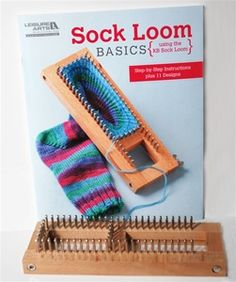 Sock Loom with Sock Loom Basics Book, Authentic Knitting Board and Looms