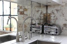 kitchen splashback vintage industrial - Google Search