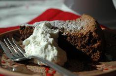 Chocolate Walnut Fig Cake with Grappa and Cardamom Cream recipe on Food52.com