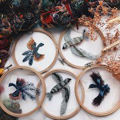 Inspirada pela natureza, artista russa Katerina Marchenko cria bordados translúcidos que mais parecem flutuar - Follow the Colours