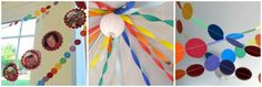 Decorating Idea:  Paint chip garland (free at HD/Menards) in blues, greens, whites
