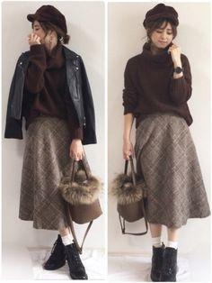 GRLのニット・セーター「タートルニットトップス」を使ったyunのコーディネートです。WEARはモデル・俳優・ショップスタッフなどの着こなしをチェックできるファッションコーディネートサイトです。 Hijab Fashion, Korean Fashion, Fashion Outfits, Womens Fashion, Fashion Ideas, Dress Outfits, Cool Outfits, Dresses, Bug Clothing