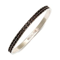 Sterling Silver 'RockLove' Bangle.