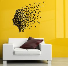Housewares Vinyl Decal Man with Birds in Hair Home Wall Art Decor Removable Stylish Sticker Mural Unique Design for Any Room Decal House http://www.amazon.com/dp/B00FRCMUVI/ref=cm_sw_r_pi_dp_JBWUtb1F1ZF3XPZM