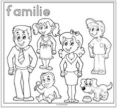 coloring my family drawing – Coloring Kids Family Coloring Pages, Preschool Coloring Pages, Cartoon Coloring Pages, Coloring Book Pages, Coloring Pages For Kids, Kids Coloring, Coloring Sheets, Preschool Family, Family Crafts