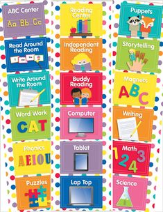 Schoolgirl Style -  Just Teach Rainbow Center Cards Mini Bulletin Board Set - DECOR TO YOUR DOOR {PREPRINTED PRODUCT MAILED TO YOUR DOOR}