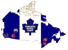 Yes, it's missing Winnipeg. I think it's safe to assume that we don't like them either. Hockey Live, Hockey Rules, Hockey Teams, Toronto Maple Leafs Wallpaper, Maple Leafs Hockey, Toronto Ontario Canada, Living In New York, Montreal Canadiens, Nhl