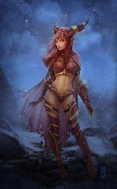 Alexstrasza - World of Warcraft fan art by Noxiihunter (Michelle Hardy)