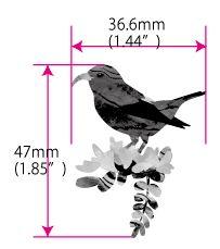 Hawaiian Honeycreeper Bird Inlay Sticker Decals – Inlay Stickers Jockomo
