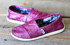 DIY glitter Toms for when mine become dreary.