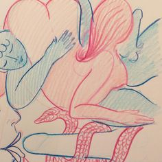 An Anonymous Artist's Erotic Utopia   Monday Insta Illustrator   The Creators Project