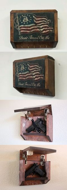 Cabinets and Safes 177877: Hidden Gun Storage Key Rack Don T Tread On Me Flag With Magnetic Lock -> BUY IT NOW ONLY: $92.99 on eBay!