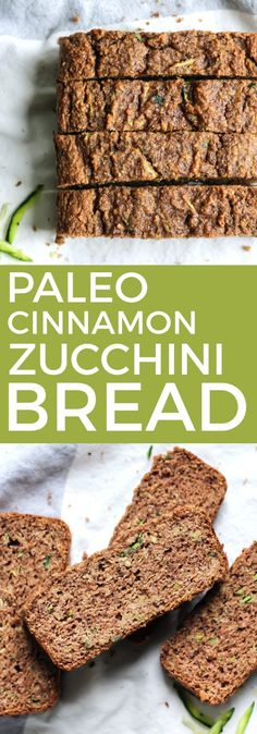 This Paleo Cinnamon Zucchini Bread is what you need to put the extra garden zucchini to good use. Using grain-free flours, eggs, a touch of oil and a lot of cinnamon and zucchini. This will definitely be your new favorite! Gluten-free, dairy-free, paleo.