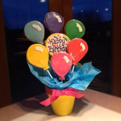Happy Birthday Balloon Cookie Bouquet!