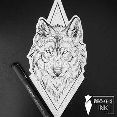 Wolf geometric tattoo and dotwork by Broken Ink instragram broken_tattoo. Wolf Tattoos, Animal Tattoos, Eagle Tattoos, Tattoo Bicep, Arrow Tattoo, Throat Tattoo, Geometric Wolf Tattoo, Geometric Mandala, Mandala Wolf