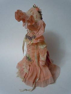 Gorgeous tiny french Couturier Bebe Dress Hat for antique Bleuette from believe on Ruby Lane