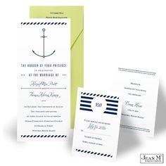 Nautical Anchor Wedding Invitation Kit