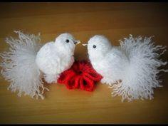 Как сделать красивую птичку из ниток.How to make a beautiful bird of thread - YouTube