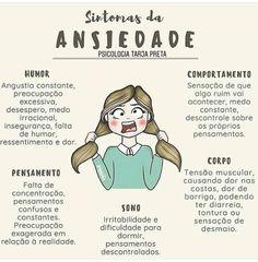 Sintomas da ansiedade Anti Stress, Stress And Anxiety, Videos Instagram, Instagram Posts, Psychological Help, Sad Girl, Anti Social, Anxious, Inspire Me