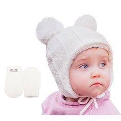 Girls  Childrens Place hat Fleece  /& Mittens Choice color /& Size 12M 5T NEW