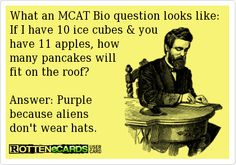 Ever see an #MCAT question like this? #premed