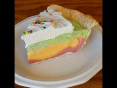 This Rainbow Sherbet Pie is Better Than Ice Cream Cake